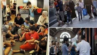 مئات المهاجرين وصلوا الى فيينا<br /> بعد اشكالات حدودية والانتقال الى ألمانيا