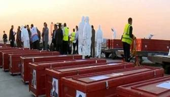 اعادة جثامين 104 حجاج ايرانيين