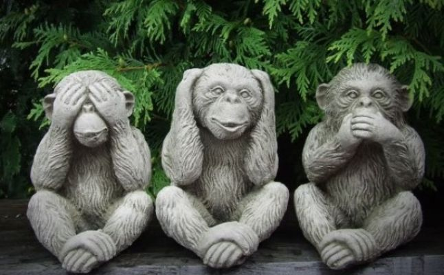 Image result for القرود الثلاثة