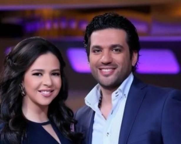 بالفيديو - هذه حقيقة ضرب حسن الردّاد ايمي سمير غانم في شهر العسل!