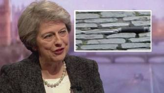 سكين الإرهاب كانت قريبة 35 خطوة من رئيسة وزراء بريطانيا (صور)