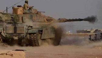 """الجيش التركي يقصف قرية """"نسرية"""" في ريف حلب بأكثر من 15 قذيفة"""