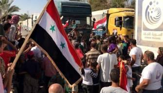 سكان دير الزور يتقاسمون مع الجيش السوري الحصار والنصر (فيديو)
