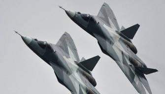 سر تحليق اهم طائرتين روسيتين فوق دمشق اليوم سو 57